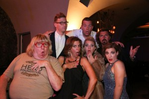 Back: Barrett Foa & Billy Mitchell. Front: Bruce Vilanch, Lori Alan, Annaleigh Ashford, Robin Atkin Downes & Daisy Eagan after the performance at Rockwell Table & Stage (LA), benefitting ASPCA. Photo by Jackie Teeple