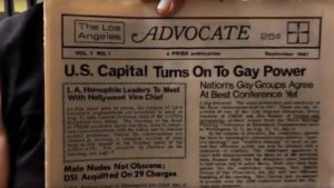 Advocate issue, documentary