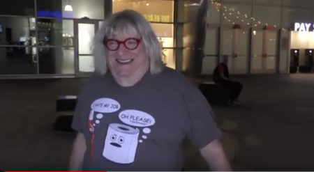 Bruce Vilanch Outside ArcLight Cinemas in Hollywood