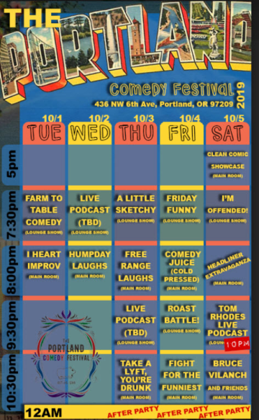 The Portland Comedy Festival Schedule