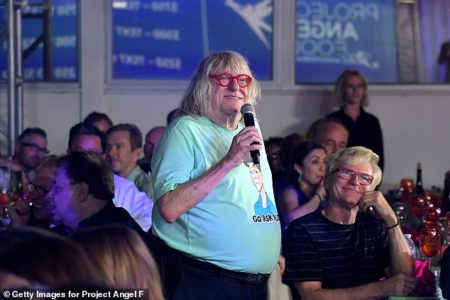 Bruce Vilanch speaks at Project Angel Food 2019