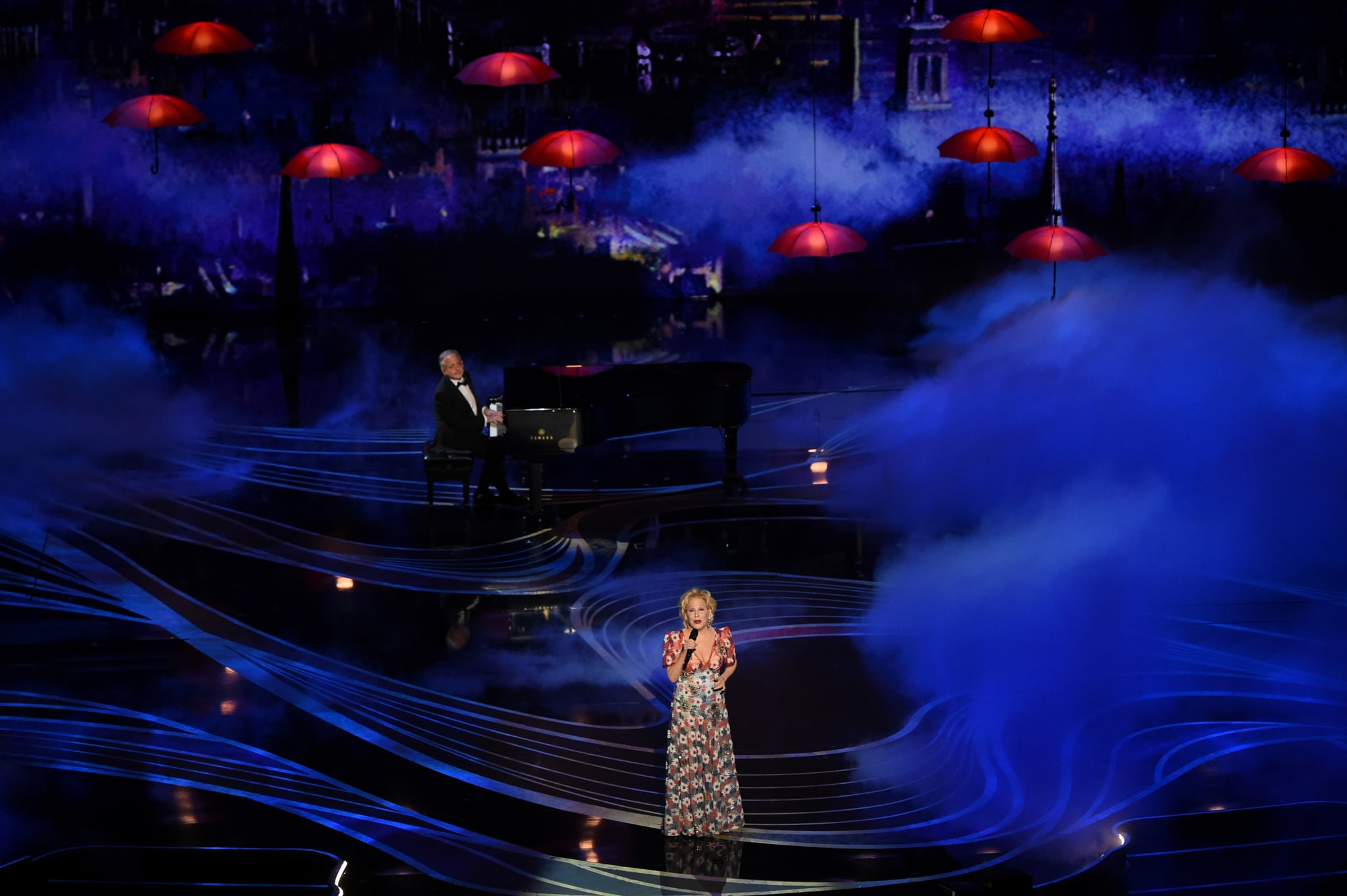 Bette Midler performing at the Oscars