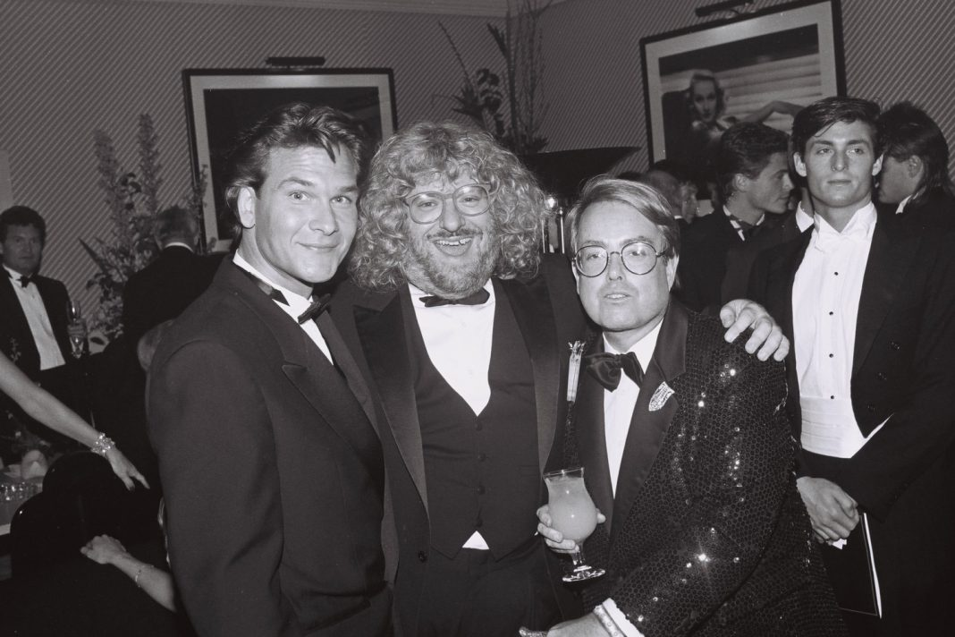 Bruce Vilanch with Patrick Swayze and Producer Allan Carr